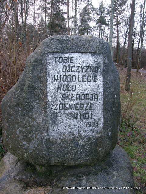 Kamień pamiątkowy.