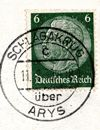 Pieczęć pocztowa SZLAGAKRUG uber ARYS