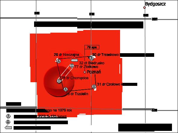 Miejsce 76. dr OP w ugrupowaniu bojowym 79. spr OP.