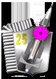Odznaka pamiątkowa 25. dr OP.