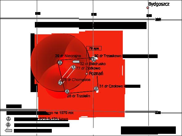 Miejsce 29. dr OP w ugrupowaniu bojowym 79. spr OP.