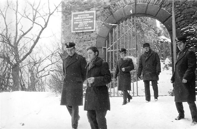Mjr W. Kozikowski z wizytą w Jaworze - 1977.