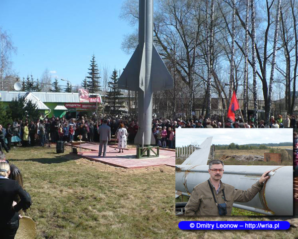 Odsłonięcie pomnika 658 pułku rakietowego S-25 w Rogaczjowie.
