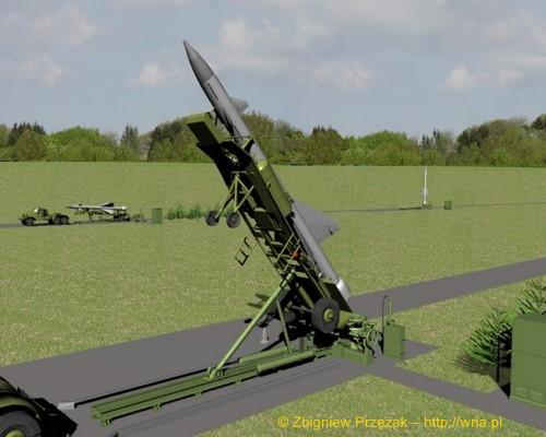 Załadunek rakiety W-300 PZR S-25 na stół startowy (etap II)