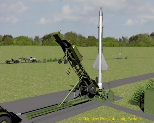 Załadunek rakiety W-300 PZR S-25 na stół startowy (etap IV)