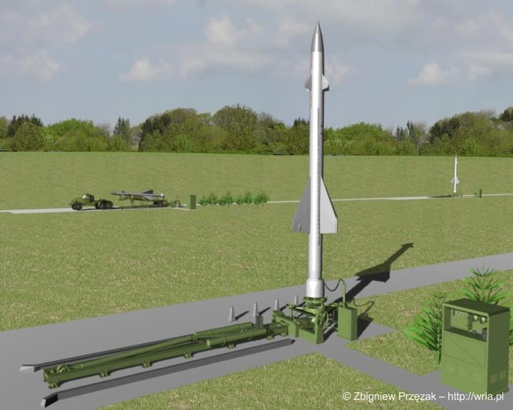 Załadunek rakiety W-300 PZR S-25 na stół startowy (etap V)