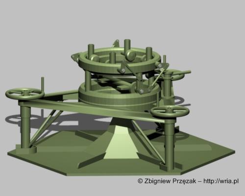 Stół startowy rakiety W-300 PZR S-25