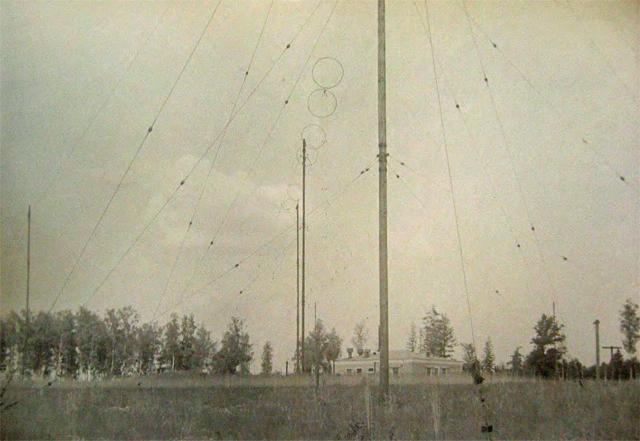 Pole antenowe RCN przy RLS A-100B w rejonie SD Korpusu PWO.