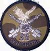 Odznaka pamiątkowa 35. dr OP - mundur polowy.