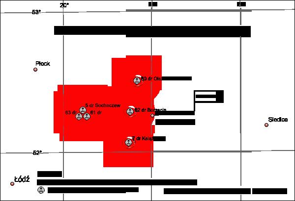 Ugrupowanie 3. WBR OP w rejonie Warszawie.