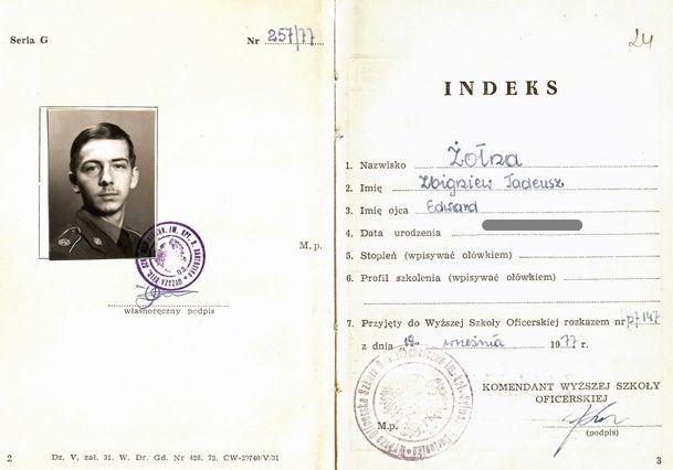 Indeks słuchacza WOSR m. Jelenia Góra.