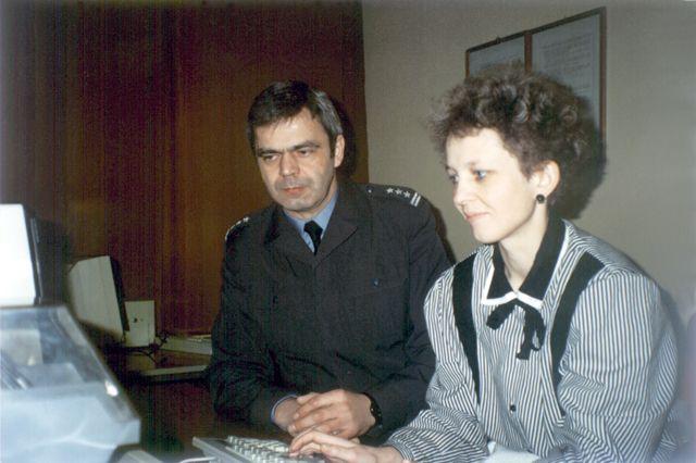 Administrator LSK CSS Jolanta Szumowska i płk Zbigniew Przęzak.